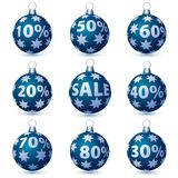 Sale blue balls Royalty Free Stock Photography