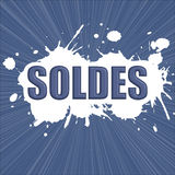 Sale with blue paint Royalty Free Stock Photos