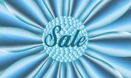 Sale blue poster Stock Image
