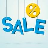Sale blue sign Stock Image