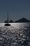 Sale boat off the coast of Cabo san Lucas Royalty Free Stock Photo