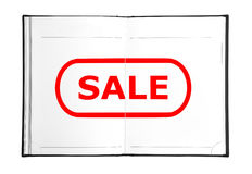 Sale in book Royalty Free Stock Photos