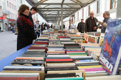 Sale of books in the center of Moscow Royalty Free Stock Photography