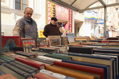 Sale of books in the center of Moscow Stock Images