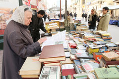 Sale of books in the center of Moscow Royalty Free Stock Photo