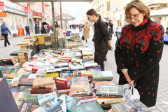 Sale of books in the center of Moscow Royalty Free Stock Image