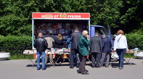 Sale of books in the streets of St. Petersburg Stock Photography
