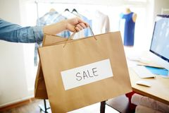 Sale in boutique Royalty Free Stock Images