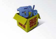 Sale Box 15% Royalty Free Stock Photos