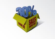 Sale Box 30% Stock Image