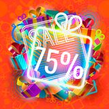 Sale and bright gifts Royalty Free Stock Image