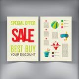 Sale Brochure Flyer design vector template Royalty Free Stock Photo