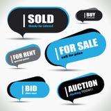 Sale bubble set Royalty Free Stock Image