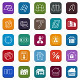 Sale buildings materials (roof, facade) site icons set Royalty Free Stock Image