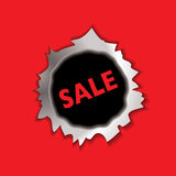 Sale bullet hole Stock Photography