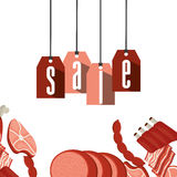 Sale of butcher products Stock Photography