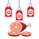 Sale of butcher products Stock Images