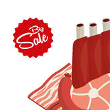 Sale of butcher products Stock Photo