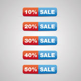 Sale button Royalty Free Stock Photography