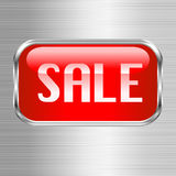 Sale button. This illustration can be used for your design Stock Photography