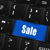 Sale   button  on  computer keyboard Royalty Free Stock Image
