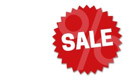 Sale Button concept illustration on a white background royalty free stock image