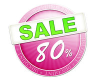 Sale button 80% Stock Photography