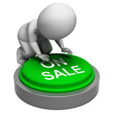 On Sale Button Means Promotions Discounts Royalty Free Stock Images