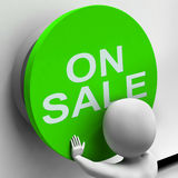 On Sale Button Means Reduced Price And Bargain Royalty Free Stock Photo