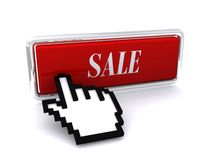 Sale button and mouse cursor Royalty Free Stock Photography