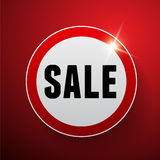 Sale button red vector Stock Photography
