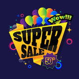Sale button Sale vector horizontal banner - 50% special offer. L Royalty Free Stock Image