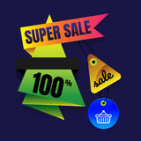 Sale button Sale vector horizontal banner - 50% special offer. L. Ayout with triangle elements. Abstract veiolet background. Design concept vector illustration