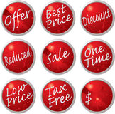 Sale buttons Stock Images