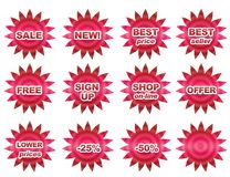 Sale buttons Stock Photo