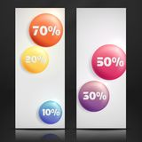 Sale Buttons. Banner. Royalty Free Stock Images