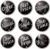 Sale buttons black Stock Photography