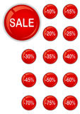 Sale buttons set Stock Photos