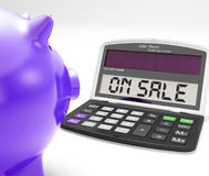 On Sale Calculator Shows Price Cut And Savings Royalty Free Stock Photos