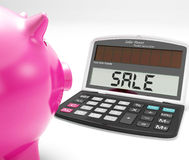 Sale Calculator Shows Price Reduction And Discounts Stock Images