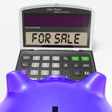 For Sale Calculator Shows Selling Or Listing Stock Photos