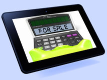 For Sale Calculator Tablet Shows Selling Or Listing. For Sale Calculator Tablet Showing Selling Or Listing Royalty Free Stock Photography