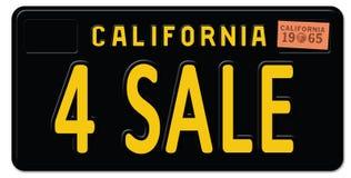 For Sale California License Plate Retro Vintage. 4 art logo sign metal car freeway royalty free illustration