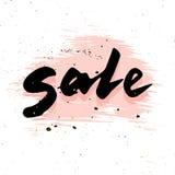 Sale calligraphy Stock Image