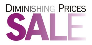 Sale Caption - 5. Sale Announcement Mast for promotional campaigns Royalty Free Stock Photo