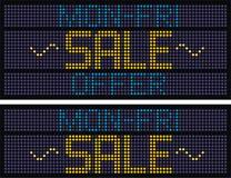 Sale Caption - 8. Mon-Fri Sale Announcement Caption/Mast for promotional campaigns Royalty Free Stock Photos