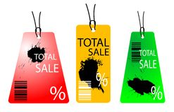 Sale. Card with bar code royalty free illustration