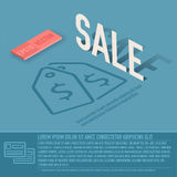 Sale card business vector background concept. Stock Photography