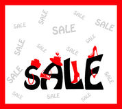 Sale Card design Stock Photo