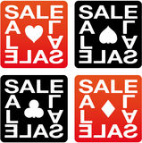 Sale cards Stock Image